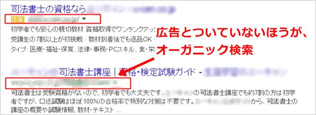 用語集 オーガニック 司法書士資格試験